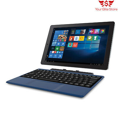 "Tablet 2-in-1 Windows 10 Laptop 10.1"" Screen Intel Atom Quad-Core Processor 32GB"