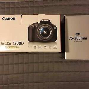 NEW Canon EOS 1200D Body EF-S 18-55mm + EF 75-300mm III Twin Lens Kit Alexandra Hills Redland Area Preview