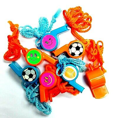 99 pc plastic whistle necklace Pinata toys party favor souvenirs giveaway gadget