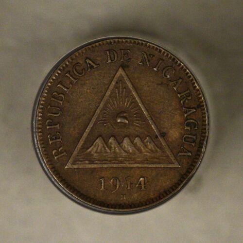 Nicaragua 1914 Centavo AU