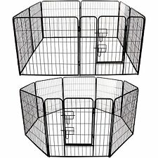 Tall Heavy Duty Large Pet Play Pen Run Puppy Rabbit Dog Cage Metal Folding Cage