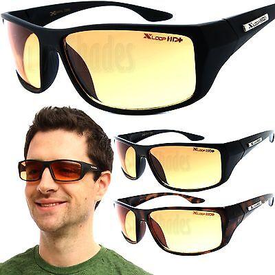 X-Loop HD Wrap Sunglasses Mens Golfing Fishing Glasses Sports Shades Amber (Loop Sunglasses)