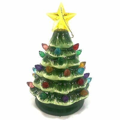 "Mr Christmas Lit Nostalgic Mini 5"" Green Christmas Tree Ornament Light Up"