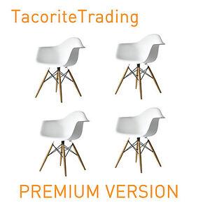 4 X 4x X4 White Eames Eiffel Style Daw Dining Chair