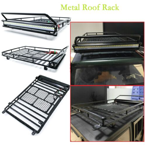 Metal Roof Luggage Rack Carrier for 1//10 RC Crawler Car Wrangler D90 Axial SCX10