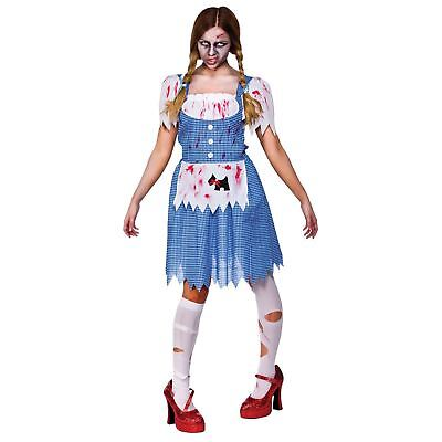 Dorothy Horror Halloween Deceased Fancy Dress Costume Outfit New - Large