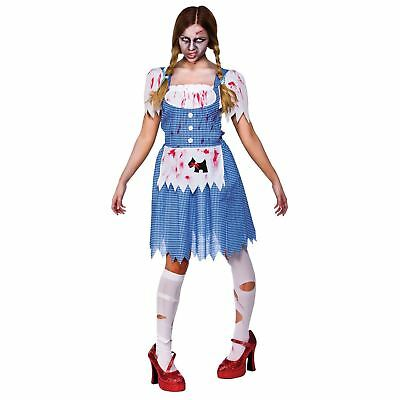 Deceased Dorothy Horror Halloween Fancy Dress Costume Outfit New - Large