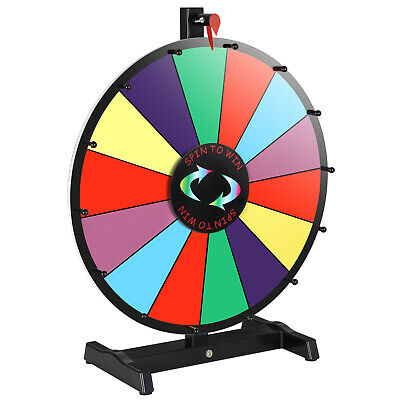 Tabletop 14 Slots Color Prize Wheel Spinner Arylic Board 18