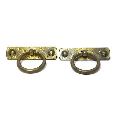 Hammered Brass Tone Retro Pull Knob