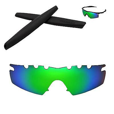 ce03c605b095 New WL Polarized Emerald Vented Lenses + Black Earsocks Oakley M Frame  Strike