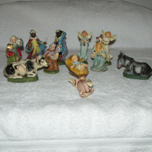 Vintage Italian Depositato Nativity Set 11 Figurines