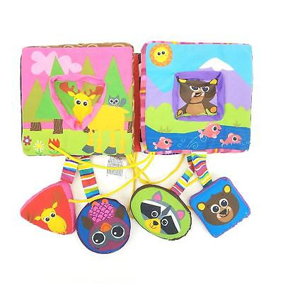 Tomy Lamaze Soft Cloth Baby Activity Puzzle Book Toy Animals Forest Plush