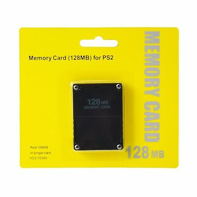 PS2 MEMORY CARD 128MB NERA PLAYSTATION 2 PSTWO