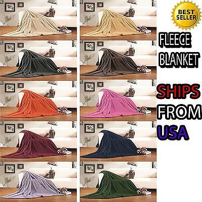 Ultra Super Soft Fleece Plush Luxury BLANKET All Sizes - 6 c