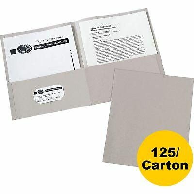 Avery 2-pocket Folder Letter-size 20shpocket 125ct Gray 47990ct