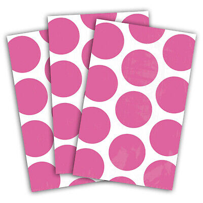10 Polka Dot Spots BRIGHT PINK Treat Loot Party Sweet Candy Paper Bags