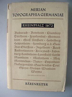 Merian Topographia Germaniae Rheinpfalz 1672 von 1963 Pfalz