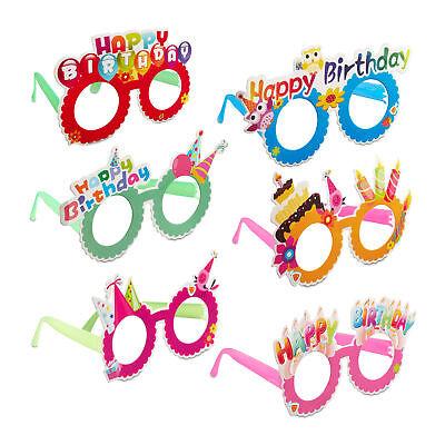 irthday Spaßbrille Geburtstag Funbrille 6er-Set Scherzbrille (Happy Birthday Brille)