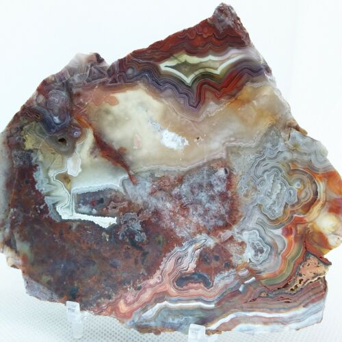Laguna Lace Agate, slab, cabbing rough, lapidary, gemstone, red, #R-3352