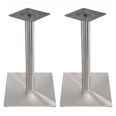 Exclusiver EDELSTAHL ✔ Tischfuß Tischbein Untergestell Bistrotisch Tischplatte✔