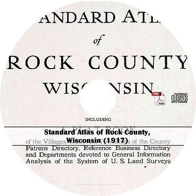 Wisconsin Atlas {1906} WI History Genealogy Maps on CD Waushara County