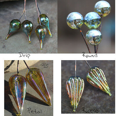 Fairy - Handmade Glass Lampwork Headpins SRA MTO - Choose Shape! ()