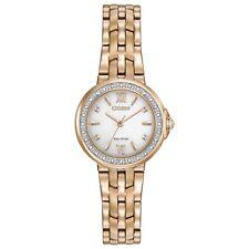 Citizen Eco-Drive Women's Diamond Accents Rose Gold 28mm Watch EM0443-59A