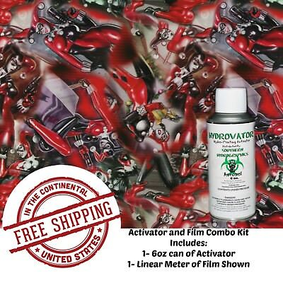 Hydro Dipping Water Transfer Hydrographic Film 6oz. Activator Jester Gal Kit