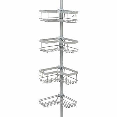 Better Homes & Gardens Contoured Tension Pole Shower Caddy Satin Nickel