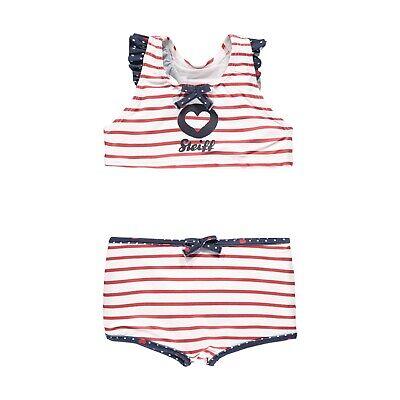 Steiff Mädchen Bikini Set Bademode 2 teilig gr. 122 ab 6 - 7 Jahre true red