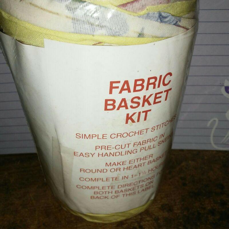 Rag Yarn Precut Fabric Strips Basket Kit Yellow Floral 15oz