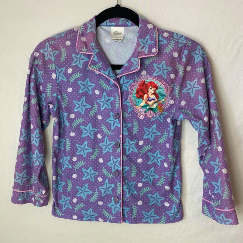 Disney The Little Mermaid Purple Green Pajama Set Size 7/8