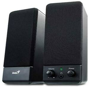 GENIUS-BLACK-MULTIMEDIA-STEREO-SPEAKERS-SYSTEM-FOR-LAPTOP-DESKTOP-PC-COMPUTER-UK