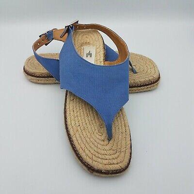 Castaner Womens Espadrilles Sandals Thong Blue Denim Shoes Sz US 6 - 6.5 EUR 37