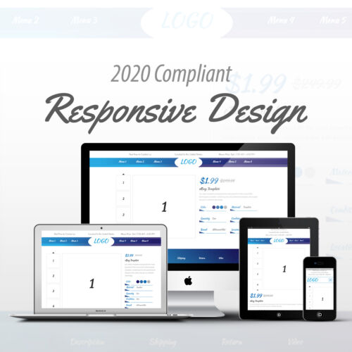2020 Compliant Mobile Responsive Ebay Auction Listing Template Professional 04
