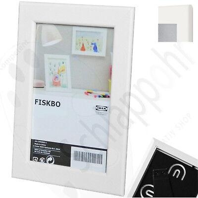 IKEA FISKBO Bilderrahmen Fotorahmen Einrahmung Weiss 21x30 Cm DIN A4