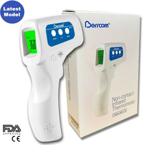 Berrcom Medical Grade NON-CONTACT Infrared Forehead Thermometer (FDA approved)