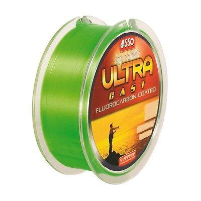 (0,02EUR/m) ASSO Monofile Angelschnur - Ultra Cast  1000m 0,25mm 5,20 kg Fluo Gr
