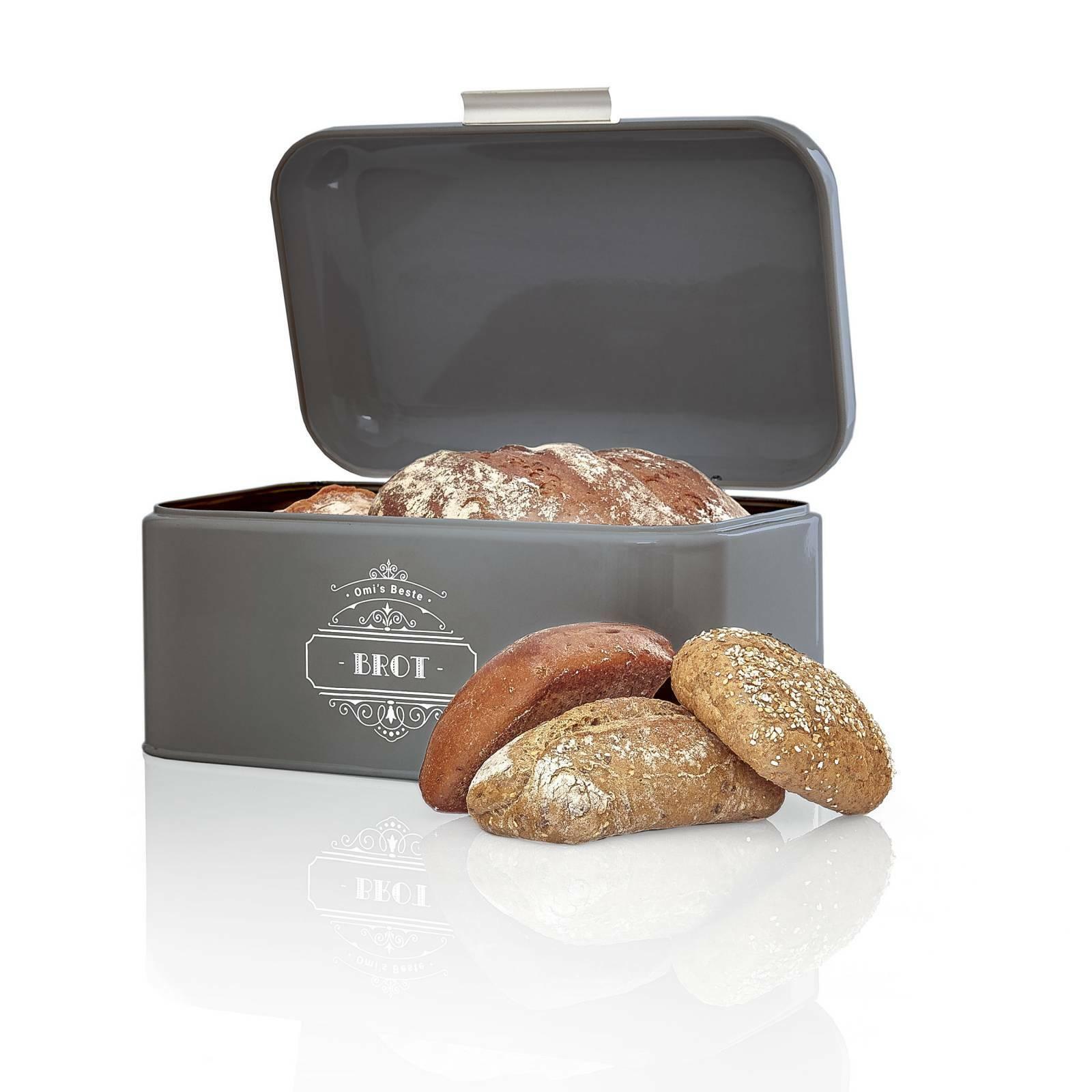 Brotbox Brotkasten Brotdose Brotaufbewahrung Brotbehälter Metall