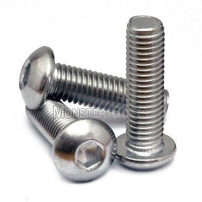 14-20 - Stainless Steel Button Head Socket Cap Screws Sae Coarse Thread 18-8 A2