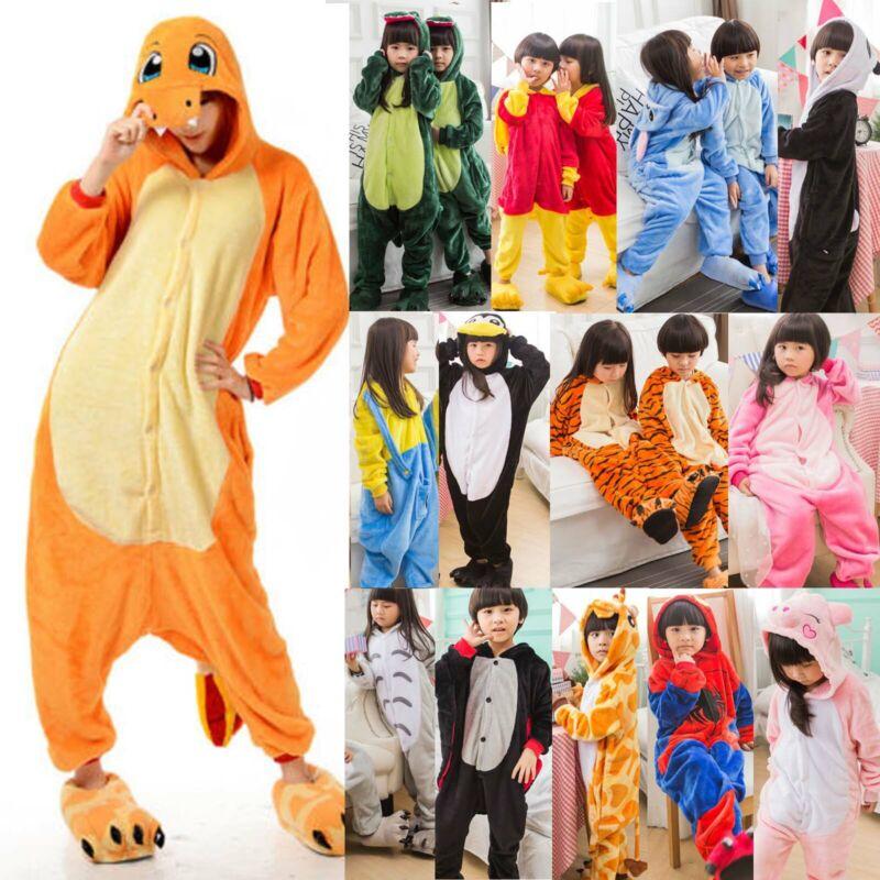 Tier Overall Kinder Junge Mädche Cosplay Kostüm Nachtwäsche Pyjama Jumpsuit Mode