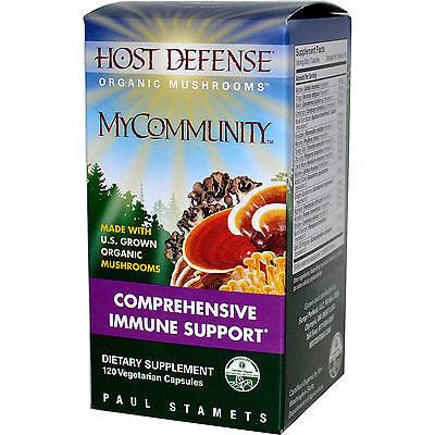 Fungi Perfecti  Host Defense  My Community Immune Support  120 Veg Capsules