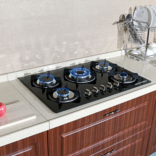 "New Year -Seckill 30"" Cooktop Built-in 5 Burner LPG/NG Gas H"
