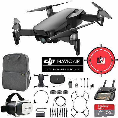 DJI Mavic Air Onyx Black Drone Mobile Go Pack VR...