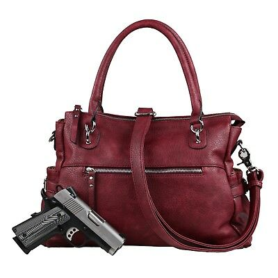 Concealed Carry Jessica Gun Satchel Bag by Lady Conceal,Locking Weapon CCW Purse ()