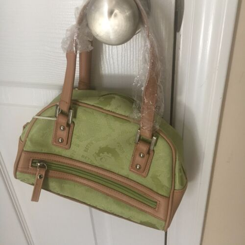 NWT King Features Authentic Betty Boop Green Leather Small Handbag Purse 2005
