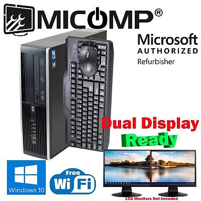 Gaming Hp SFF Computer PC AMD HD 5450 3.10Ghz 4Gb 250Gb Windows 10 Wifi HDMI DVI
