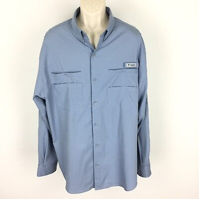 Columbia PFG Mens Bonehead Short Sleeve Shirt Whitened Violet Large X-Large L//XL