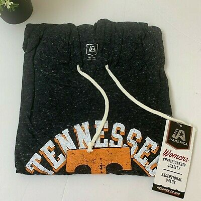 NCAA Tennessee Volunteers Womens Sweater Hoodie Large Black Pullover J -
