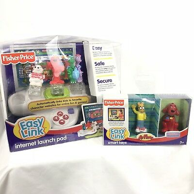 Fisher Price Easy Link Internet Launch Pad Elmo Clifford Arthur Lot in Box 2007